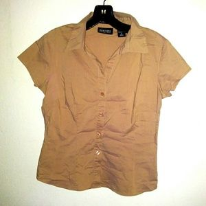 New York & Company tan button down sm